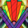 Art Deco Chevron 1 V by Chuck Staley