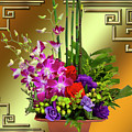 Art Deco Floral Arrangement by Chuck Staley