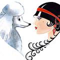 Art Deco Lady - Les Amis by Di Kaye