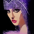 Flapper In Purple Hat by Chuck Staley