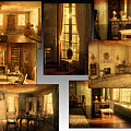 Art Institute Of Chicago Miniature Room Collage Textured by Thomas Woolworth