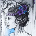 Art Nouveau Girl 1 by Emily Page