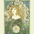 Art Nouveau Goddess Of Astrology by Dee Van Houten