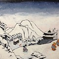 Art Of Buddhism And Shintoism And Two Paths In The Snow by Sawako Utsumi