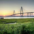 Arthur Ravenel Bridge Sunset by Dustin K Ryan