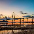 Arthur Ravenel Jr. Bridge At Dusk by Robert Loe