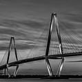 Arthur Ravenel Jr Bridge Black And White by Donnie Whitaker