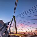 Arthur Ravenel Jr. Bridge Light Trails by Donnie Whitaker