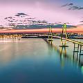 Arthur Ravenel Jr. Bridge Light Trails by Robert Loe