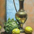 Artichoke And Lemons by Anna Rose Bain