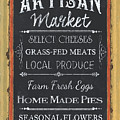 Artisan Market Sign by Debbie DeWitt
