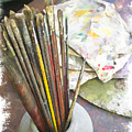 Artist Brushes  by Margie Wildblood