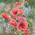 Artist In The Garden by B Rossitto