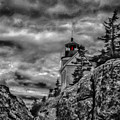 Artistic Bass Harbor Lighthouse In Acadia by Jeff Folger