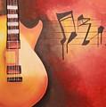 Artistic Guitar With Musical Notes by Srividhyaa Karuppannan