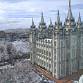 Artistic Rendering Of The Salt Lake City Lds Temple by Richard Coletti