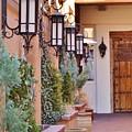 Santa Fe Garden Courtyard by Cherie Cokeley