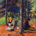Artists In The Woods by Henri Robert
