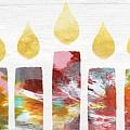 Artists Menorah- Art By Linda Woods by Linda Woods