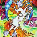 Artsy Nouveau Unicorn by Jenn Cunningham