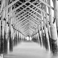 As The Water Fades Grayscale by Jennifer White