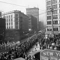 Asahel Curtis, 1874-1941, Draft Parade, Seattle by Asahel Curtis