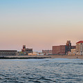 Asbury Park Boardwalk From The Beach by Bill Cannon