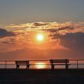 Asbury Park Boardwalk Sunrise by Bill Cannon