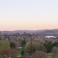 Asheville Skyline And Blue Ridge Mountains At Dawn by MM Anderson