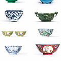 Asian Art Chinese Pottery - Bowls by Celestial Images