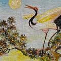 Asian Crane 3 by Min Wang