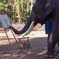 Asian Elephant Painting Picture by Sally Weigand