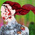 Asian Flower Woman Red by Tony Rubino
