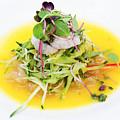 Asian Korean Fusion Fresh Prawn Salad by Jacek Malipan