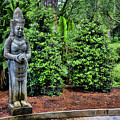 Asian Statue Jefferson Island  by Chuck Kuhn