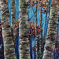 Aspen Forest In The Rocky Mountain by OLena Art Brand