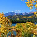 Aspen On Pikes Peak And Crystal Reservoir by Steve Krull