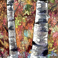 Aspen Trees  by OLena Art Brand
