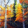 Aspens In Fall. by John Gabb