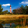 Assateague Lighthouse Reflection by Nick Zelinsky