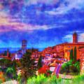 Assisi At Dusk 2 by Darin Williams