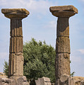 Assos Temple Of Athena Columns by Bob Phillips