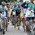 Astana Team With Lance Armstrong by Travel Pics