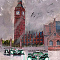 Aston Martin Racing In London by Richard Le Page
