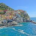 Astonishing Magnificient Manarola In Cinque Terre by M Bleichner