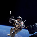 Astronaut Floats In Space by Stocktrek Images