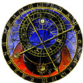 Astronomical Clock In Grunge Style by Michal Boubin