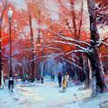 At Dawn On Tverskoy Boulevard by Alexey Shalaev