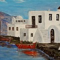 At Home In Greece by Marilyn  McNish