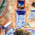 At Home In Santorini Greece  by Warren Thompson